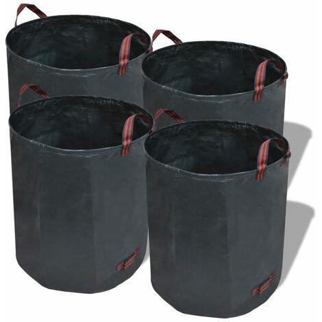 Garden Waste Bag Dark Green 4 pcs 150 g/sqm 120 L - Green