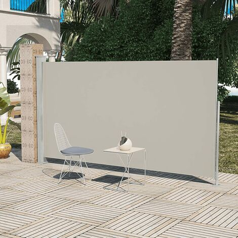 Patio Terrace Side awning 160 x 300 cm Cream Colour - Cream