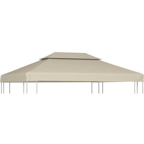 vidaXL Gazebo Cover Canopy Replacement 310 g / m² Beige 3 x 4 m - Beige