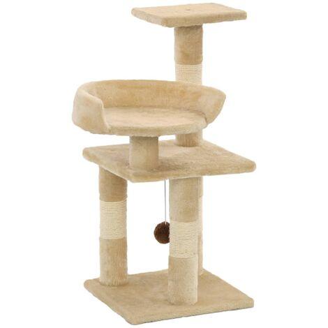 vidaXL Cat Tree with Sisal Scratching Posts 65 cm Beige - Beige