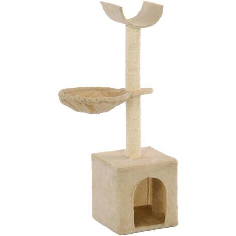 vidaXL Cat Tree with Sisal Scratching Posts 105 cm Beige - Beige