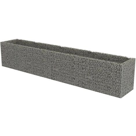 vidaXL Gabion Raised Bed Galvanised Steel 540x90x100 cm - Silver