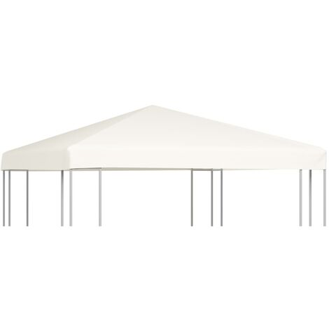 vidaXL Gazebo Top Cover 310 g/m² 3x3 m Cream White - White