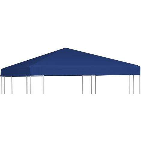 vidaXL Gazebo Top Cover 310 g/m² 3x3 m Blue - Blue