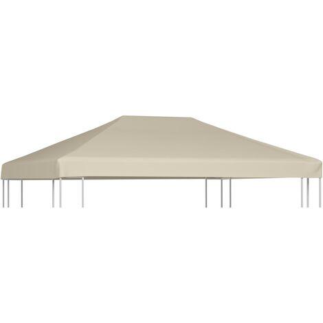vidaXL Gazebo Top Cover 310 g/m² 4x3 m Beige - Beige