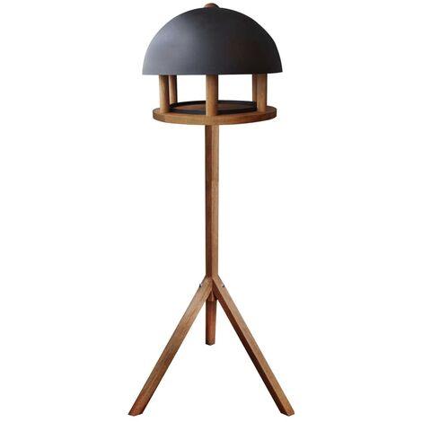 Esschert Design Bird Table Round Steel Roof FB429 - Brown