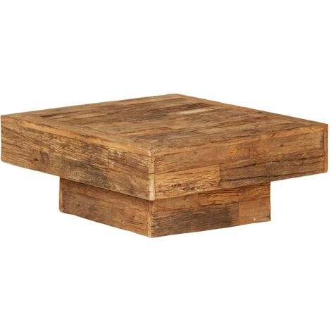vidaXL Coffee Table Solid Reclaimed Wood 70x70x30 cm - Brown