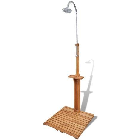 Wooden Garden Shower - Brown