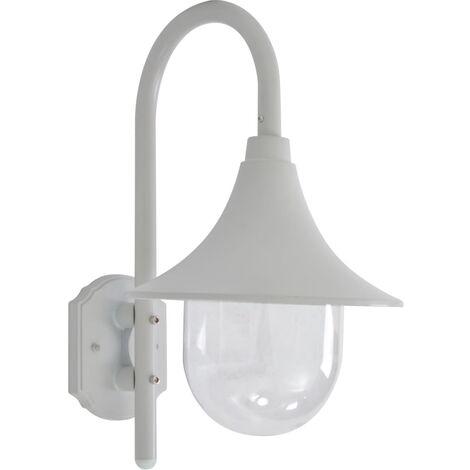 vidaXL Garden Wall Lamp E27 42 cm Aluminium White - White