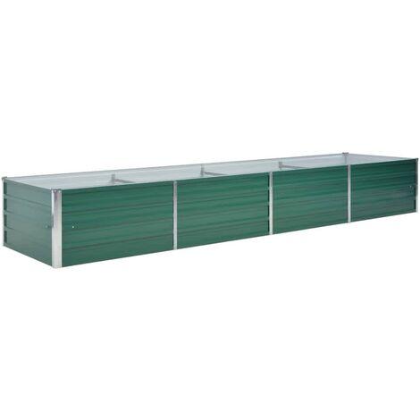 vidaXL Garden Raised Bed Galvanised Steel 320x80x45 cm Green - Green