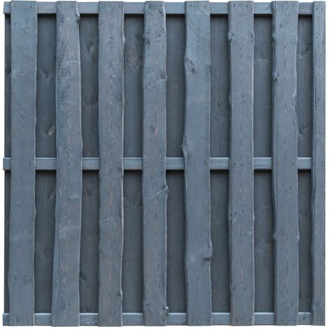 vidaXL Hit and Miss Fence Panel Pinewood 180x180 cm Grey - Grey
