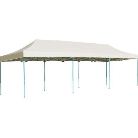 vidaXL Folding Pop-up Party Tent 3x9 m Cream - Cream
