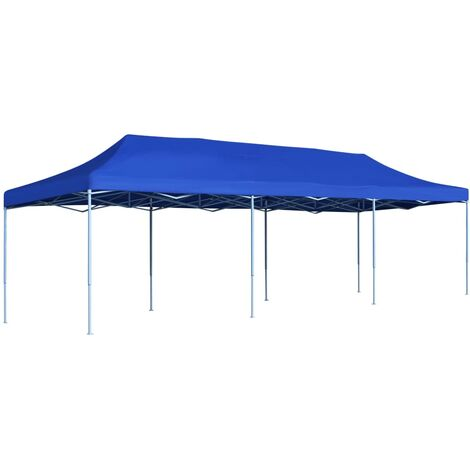 vidaXL Folding Pop-up Party Tent 3x9 m Blue - Blue