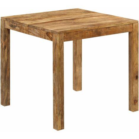 vidaXL Dining Table Solid Mango Wood 82x80x76 cm - Brown