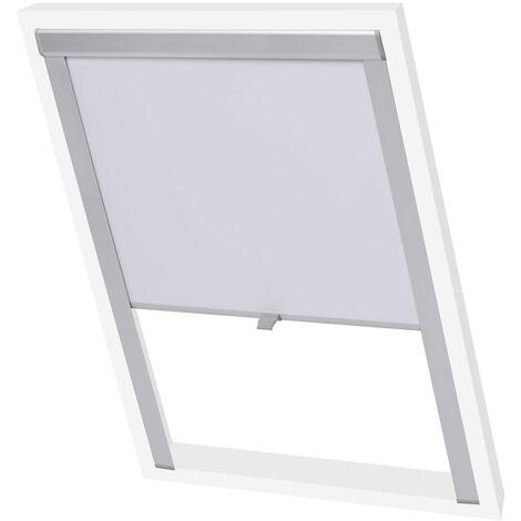 vidaXL Blackout Roller Blind White FK06 - White