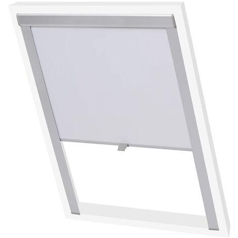 vidaXL Blackout Roller Blind White CK02 - White