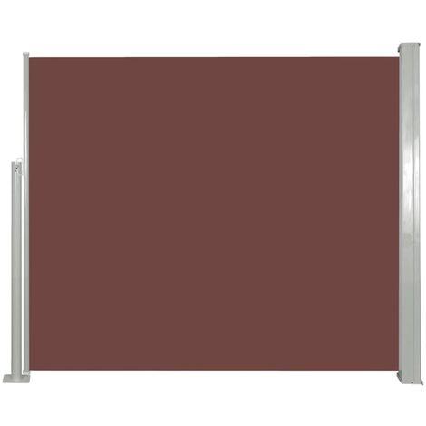 vidaXL Retractable Side Awning 120 x 300 cm Brown - Brown