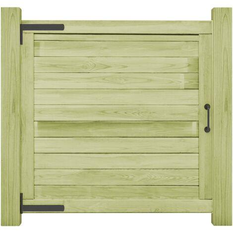 vidaXL Garden Gate Impregnated Pinewood 100x100 cm - Green