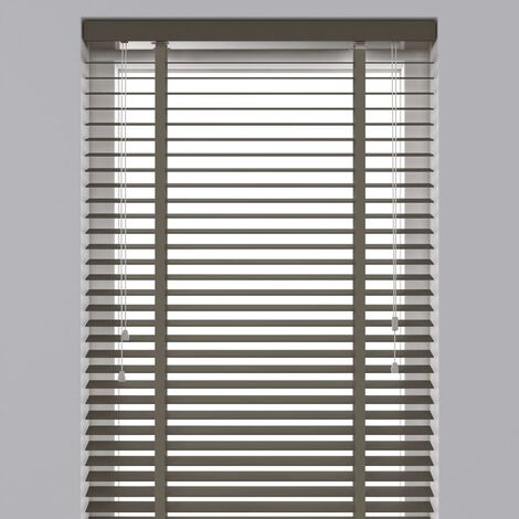 Decosol Horizontal Blinds Wood 50 mm 60x130 cm Taupe  - Brown