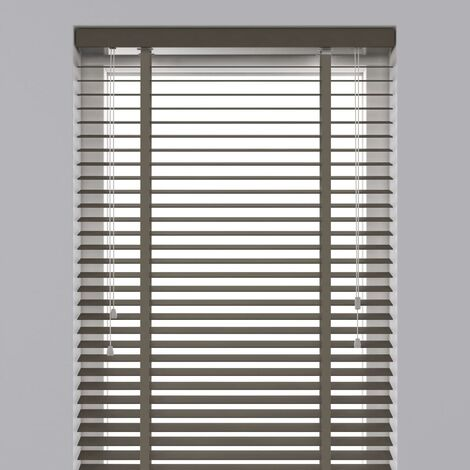 Decosol Horizontal Blinds Wood 50 mm 80x130 cm Taupe  - Brown