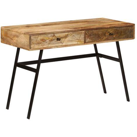 Vidaxl Writing Desk With Drawers Solid, Mango Wood Desk