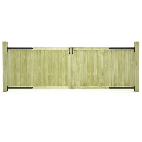 vidaXL Garden Gates 2 pcs Impregnated Pinewood 300x100 cm - Green