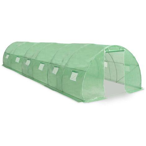 vidaXL Greenhouse 27m² 900x300x200 cm - Green