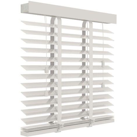 Decosol Horizontal Blinds Wood 50 mm 140x180 cm White  - White