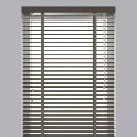 Decosol Horizontal Blinds Wood 50 mm 120x180 cm Taupe  - Brown