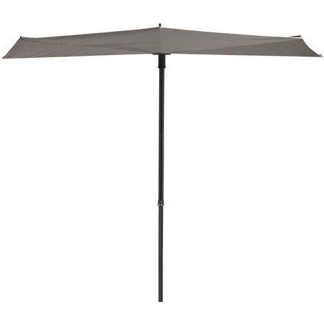 Madison Balcony Parasol Sun Wave 270x150 cm Light Grey - Grey
