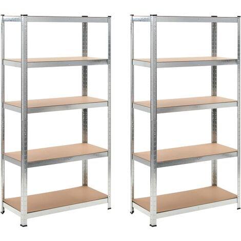 vidaXL Storage Shelves 2 pcs 90x40x180 cm MDF - Brown