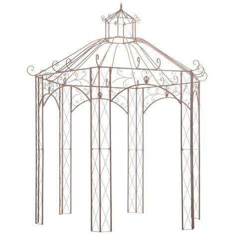 vidaXL Garden Pavilion Antique Brown 3 m Iron - Brown