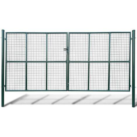 Mesh Garden Gate 415 x 225 cm / 400 x 175 cm - Green