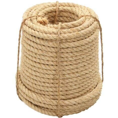 vidaXL Rope 100% Sisal 14 mm 50 m