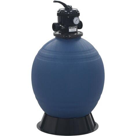 vidaXL Pool Sand Filter with 6 Position Valve Blue 560 mm - Blue