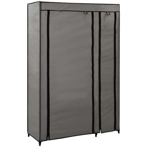 vidaXL Folding Wardrobe 110x45x175 cm Fabric Grey - Grey
