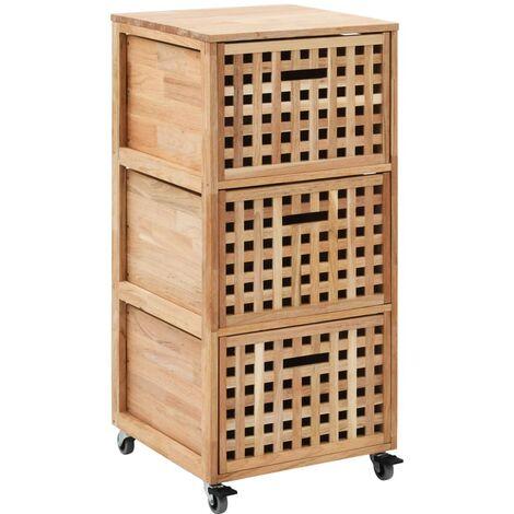 vidaXL Bathroom Cabinet 41x41x91 cm Solid Walnut Wood - Brown