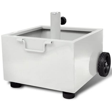 vidaXL Outdoor Umbrella Stand Plant Pot White - White