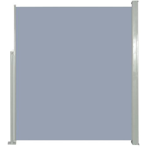 Patio Retractable Side Awning 160 x 300 cm Grey - Grey