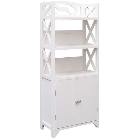 vidaXL Bathroom Cabinet White 46x24x116 cm Paulownia Wood - White
