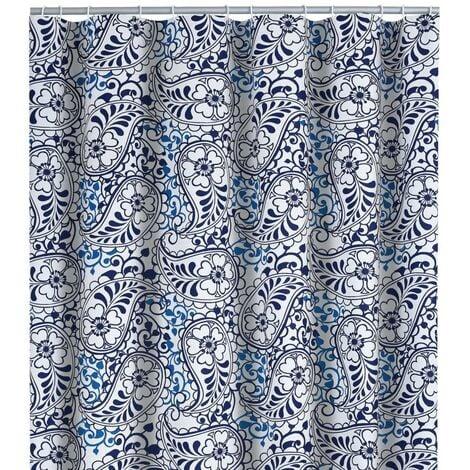RIDDER Shower Curtain Oriental 180x200 cm - Blue
