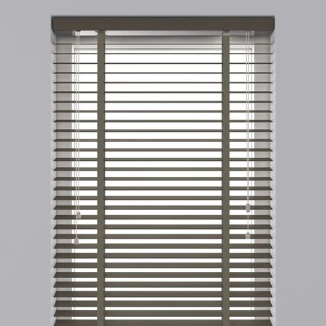 Decosol Horizontal Blinds Wood 50 mm 100x130 cm Taupe  - Brown