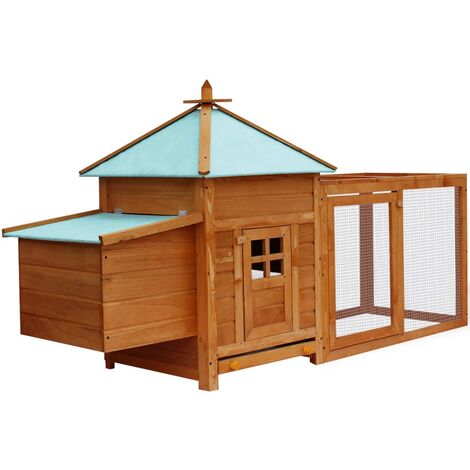 Outdoor Chicken Coop - Brown