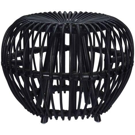 Home&Styling Kubu Stool Brussel Rattan Black - Black