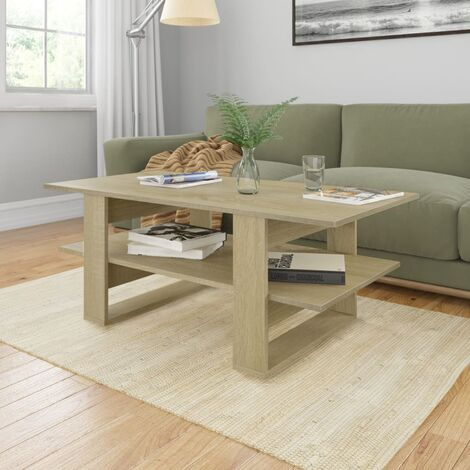 vidaXL Coffee Table 110x55x42 cm Chipboard Sonoma Oak - Brown