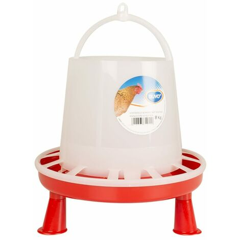 Duvo+ Poultry Feeder with Studs 8 kg/10 L - White