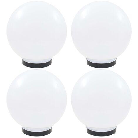 vidaXL LED Bowl Lamps 4 pcs Spherical 25 cm PMMA - White
