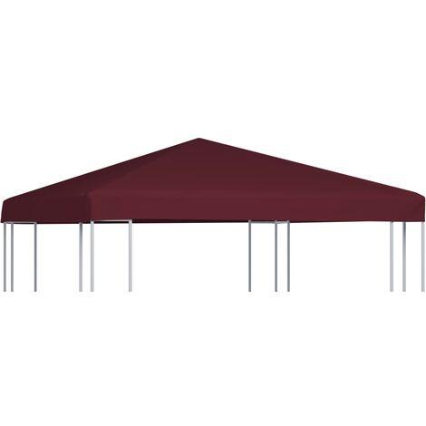 vidaXL Gazebo Top Cover 310 g/m² 3x3 m Bordeaux - Red