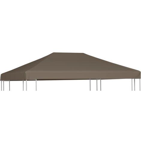 vidaXL Gazebo Top Cover 310 g/m² 3x4 m Taupe - Brown