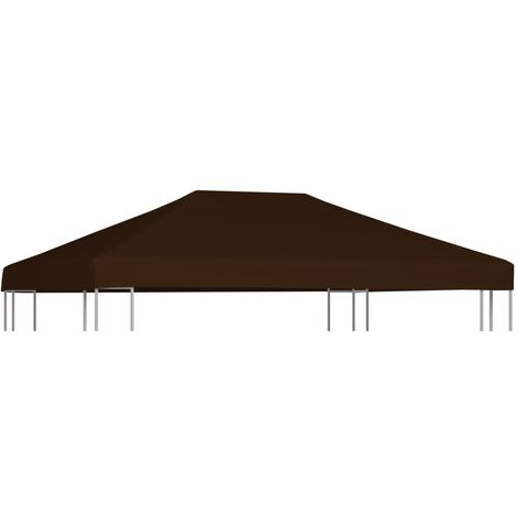 vidaXL Gazebo Top Cover 310 g/m² 3x4 m Brown - Brown